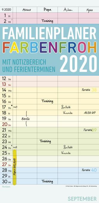 Familienplaner Farbenfroh 2020