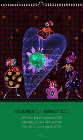 Blumentopf Geschenkpapier-Kalender 2020
