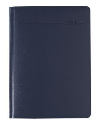 Buchkalender Balacron blau 2020 - Bürokalender A5