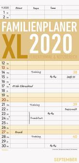 Familienplaner XL 2020 mit 4 Spalten