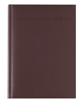 Buchkalender Balacron rot 2020 - Bürokalender A5