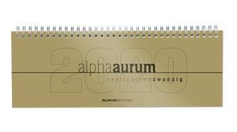 Tisch-Querkalender alpha aurum 2020