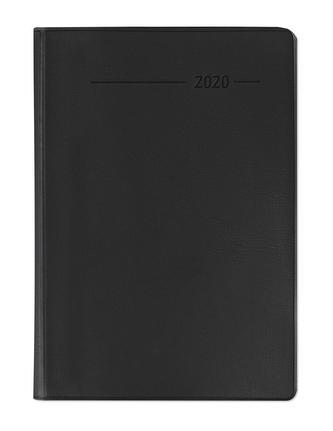 Taschenkalender Buch PVC schwarz 2020