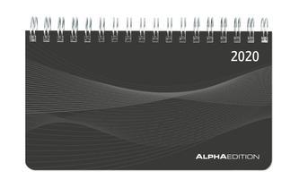 Mini-Querkalender PP-Einband schwarz 2020 - Tischkalender