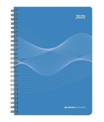Wochenplaner PP-Einband blau 2020 - Kalender-Ringbuch A5