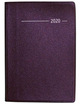 Taschenkalender Buch Metallic rot 2020