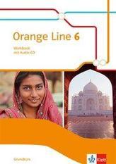 Orange Line 6 Grundkurs. Workbook mit Audio-CD Klasse 10