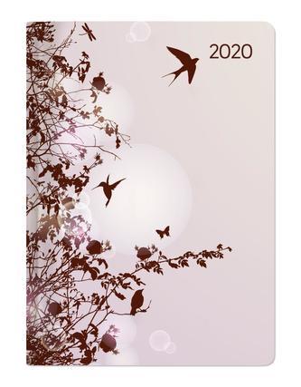 Mini-Buchkalender Style Hummingbird Tree 2020
