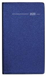 Taschenplaner Metallic blau 2020