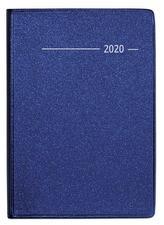 Taschenkalender Buch Metallic blau 2020