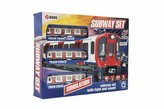Metro/vlak/tramvaj plast s kolejemi na baterie se světlem se zvukem v krabici 40,5x30x7cm