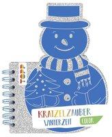 Kratzelzauber Color Winterzeit (Kratzelbuch in Schneemannform)