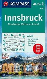 KOMPASS Wanderkarte Innsbruck, Nordkette, Mittleres Inntal 1:35000
