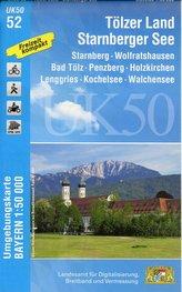 Tölzer Land - Starnberger See 1 : 50 000 (UK50-52)