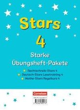 STARS - starke Übungshefte - 4. Schuljahr - 3 Übungshefte im Paket mit Lösungen
