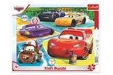 Puzzle deskové Auta 3/Cars 3/Dobrý tým 37x29cm 25 dílků ve fólii