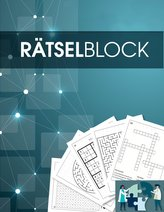 Rätselbuch und Rätselblock für Erwachsene und Senioren -  Sudoku, Kreuzworträtsel, Logikrätsel, Wortsuch-Rätsel und viele mehr -