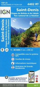 Saint-Denis Cirques de Mafate et de Salazie  1 : 25 000