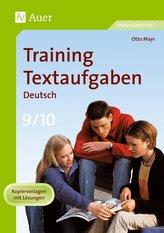 Training Textaufgaben Deutsch 9./10. Klasse
