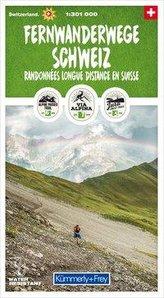 Fernwanderwege Schweiz 1:301 000