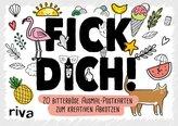 FICK DICH! - 20 bitterböse Ausmal-Postkarten zum kreativen Abkotzen