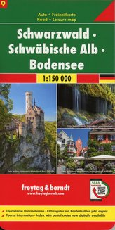 Schwarzwald - Schwäbische Alb - Bodensee, Autokarte 1:150.000, Blatt 9
