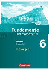 Fundamente der Mathematik 6. Schuljahr - Sachsen - Lösungen zum Schülerbuch