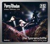 Perry Rhodan Silber Edition 114: Die Sporenschiffe (2 MP3-CDs)