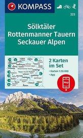KOMPASS Wanderkarte Sölktäler, Rottenmanner Tauern, Seckauer Alpen 1:55 000