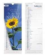 Měsíční vázankový - nástěnný kalendář 2021