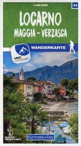 Locarno / Maggia - Verzasca 44 Wanderkarte 1:40 000 matt laminiert