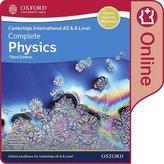 Cambridge International AS & A Level Complete Physics Enhanced Online Student Book. Digital Licence Key