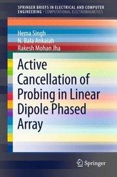 Active Cancellation of Probing in Linear Dipole Phased Array