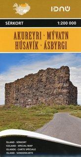 Akureyri / Myvatn / Husavik / Asbyrgi  1 : 200 000