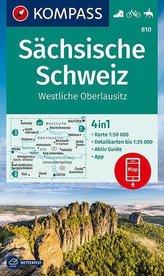 KOMPASS Wanderkarte Sächsische Schweiz, Westliche Oberlausitz 1:50 000