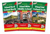 Irland, Autokarten-Set 1:150.000, 3 Blätter in Kunststoff-Hülle
