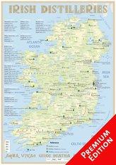 Whiskey Distilleries Ireland - Poster 42x60cm - Premium Edition