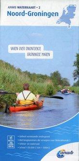 Noord-Groningen 1:50 000 Waterkaart