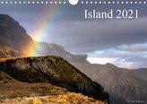 Island 2021 (Wandkalender 2021 DIN A4 quer)