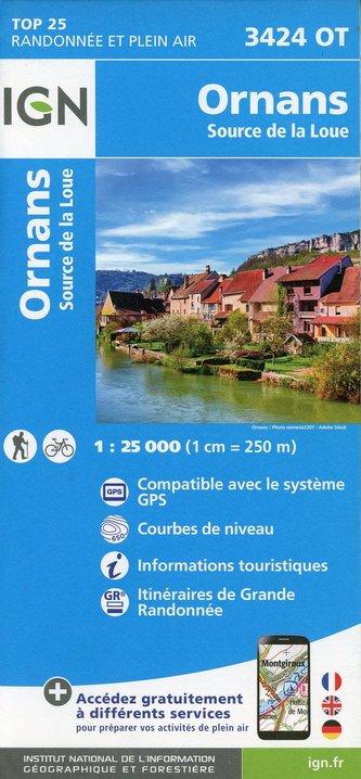 Ornans - Source de la Loue 1:25 000