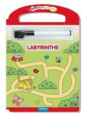 Trötsch Labyrinthe Schreib und Wisch Weg mit Stift