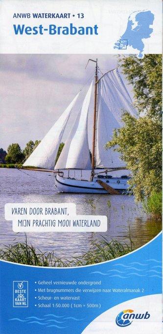 West-Brabant 1:50 000 Waterkaart