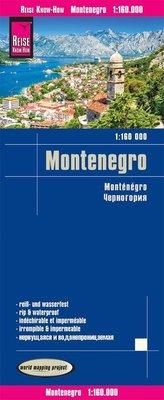 Reise Know-How Landkarte Montenegro 1:160.000