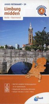 Limburg midden. Venlo / Roermond.  1 : 66 000