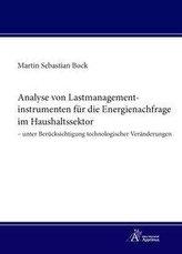 Analyse von Lastmanagementinstrumenten für die Energienachfrage im Haushaltssektor - unter Berücksichtigung technologischer Verä