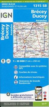 Brécey-Ducey. Avranches 1:25 000