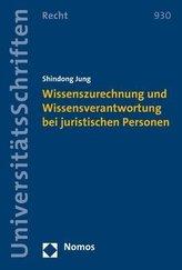 Wissenszurechnung und Wissensverantwortung bei juristischen Personen