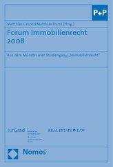 Forum Immobilienrecht 2008