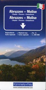KuF Italien Regionalkarte 11. Abruzzen - Molise de Agostini 1 : 200 000