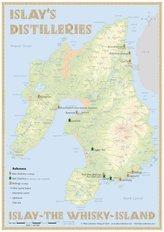 Whisky Distilleries Islay - Tasting Map